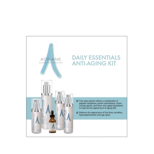 Medical Grade Skin Care, Adriane Advanced Skincare, Skin Health for Life, Cleansers, Age Defying, Acne, Hydrating, Skin Purifying, daily-essentials-anti-aging-kit